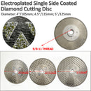 "Electroplated Cutting and Grinding Diamond Blade single side coated 5/8""-11 Arbor Flange - DIATOOL"