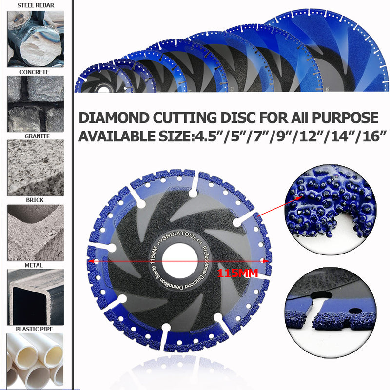 "Diameter 9"" Rescue Demolition Diamond Blades for ALL-CUT Metal Cutting Diamond Blade All Purpose Cut Off Wheel for Rebar Sheet Metal Angle Iron Stainless Steel  Shipped from USA - DIATOOL"