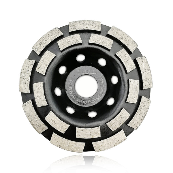 "Double Row Diamond Surface Grinding Cup Wheel SHDIATOOL Diameter 4"" 4.5"" 5"" 7"" - DIATOOL"