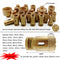 25pcs/set Dry Golden Diamond Drill Bits for Porcelain Tile Granite Marble M14 Thread - DIATOOL