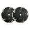 2pcs Diamond Turbo Blade with Slant Protection Teeth Cutting Granite Marble concrete Hard Stone 5/8-11 Flange SHDIATOOL - DIATOOL