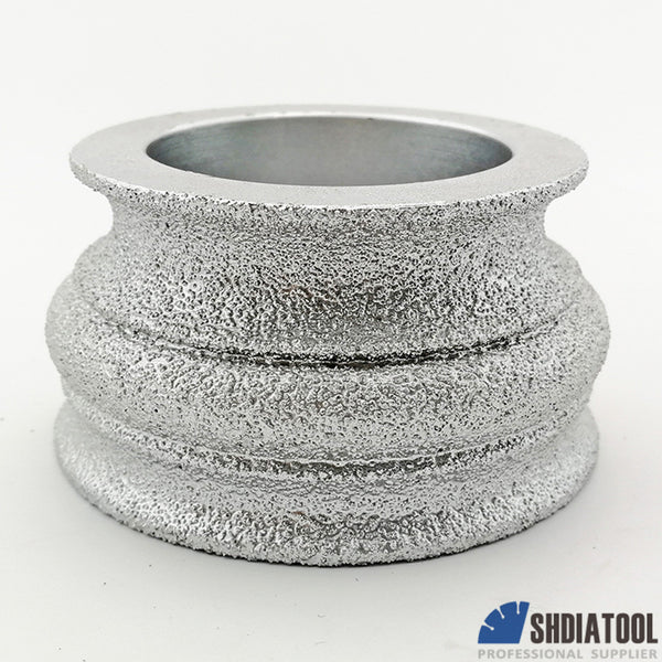 "3""/75mm Vacuum Brazed Diamond Hand Convex Grinding Disc - DIATOOL"