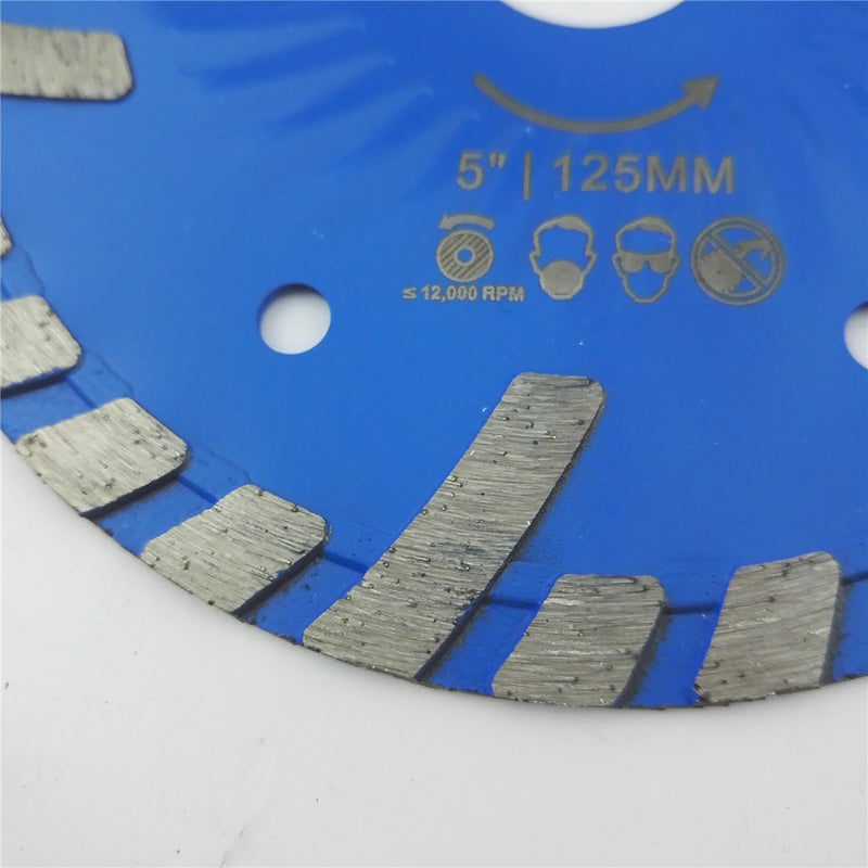 Diamond Blades for Stone Concrete Cutting with Slant Protection Teeth 3 sizes available - DIATOOL