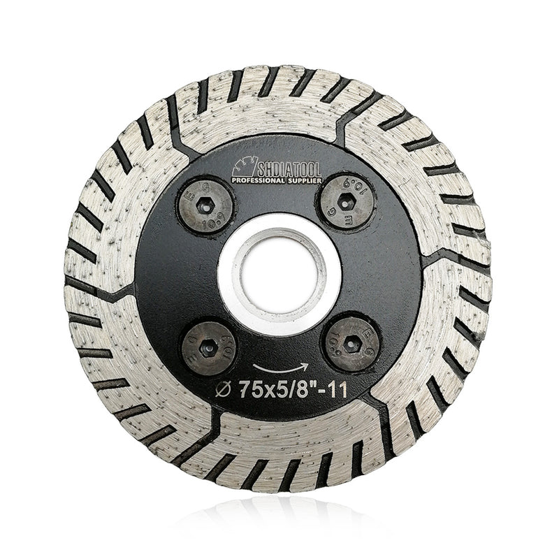 "SHDIATOOL  2 in 1 Diamond Blade for cutting and grinding Granite Marble 5/8""-11 Arbor   - DIATOOL"