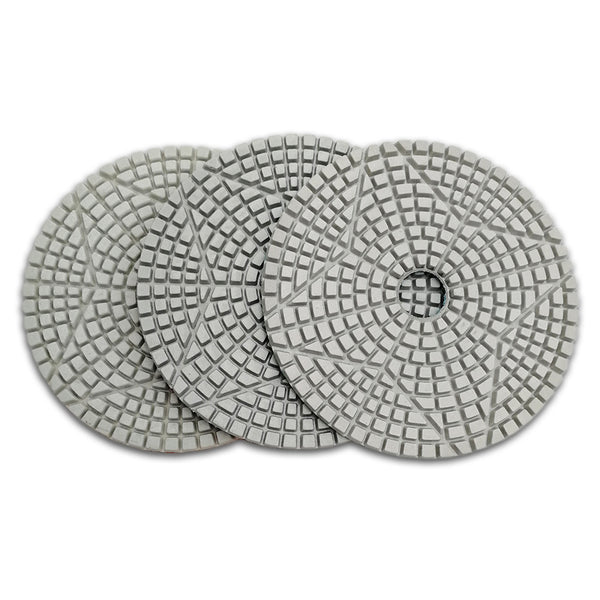 "3 Step 4"" Diamond Polishing Pads for Marble - DIATOOL"