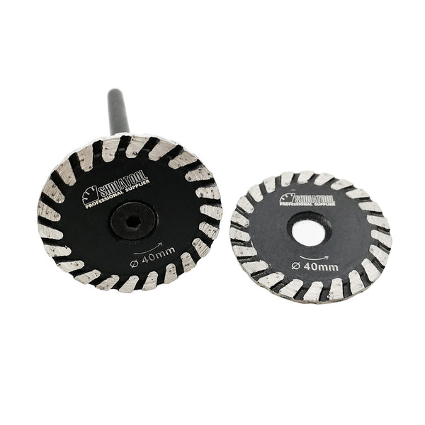 30/40/50MM Mini Diamond Blades with Removable 6mm Shank for multi purpose cutting carving - DIATOOL