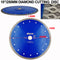 "1pc 10"" X Mesh Turbo Diamond Blade Cutting Tile Ceramic Porcelain Marble SHDIATOOL - DIATOOL"