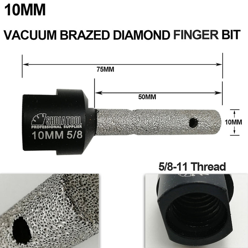 Diamond Finger Bits 5/8-11 or M14 Thread - DIATOOL
