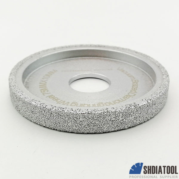 "3""/75mm Vacuum Brazed Diamond  Grinding wheel Flat  Profile Wheel - DIATOOL"