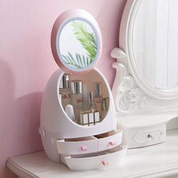 LED Mirror Makeup Storage Box - 1stInHealth