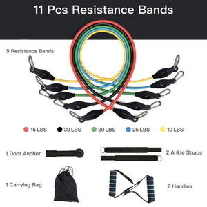 11pcs Resistance Band Set - 1stInHealth