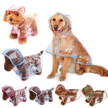 Load image into Gallery viewer, Transparent Dog Raincoat - 1stInHealth