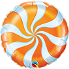 Foil Balloon - Candy Swirl Orange