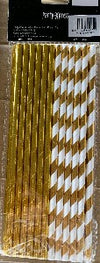 Straws - Paper Foil Gold Mix (25)