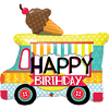 Foil Balloon Super Shape Birthday Ice Cream Truck 36in