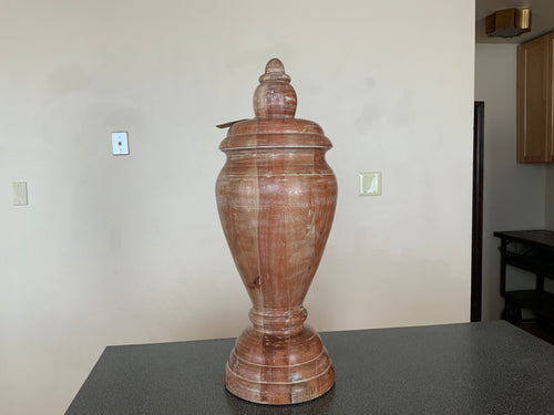 Solid Wood Vase