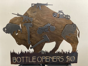 Rifle Bison Bottle Opener