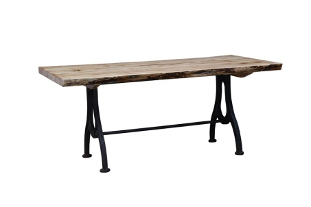 "72"" Industrial Live Edge Table"