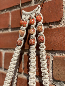 Long Macrame Wall Hanging w/ Beads