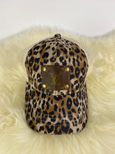 Load image into Gallery viewer, Upcycled LV CC Ponytail Cheetah Cap
