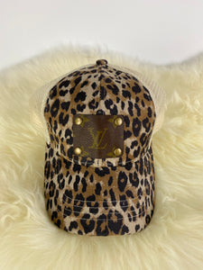 LV CC High Ponytail Cheetah Cap