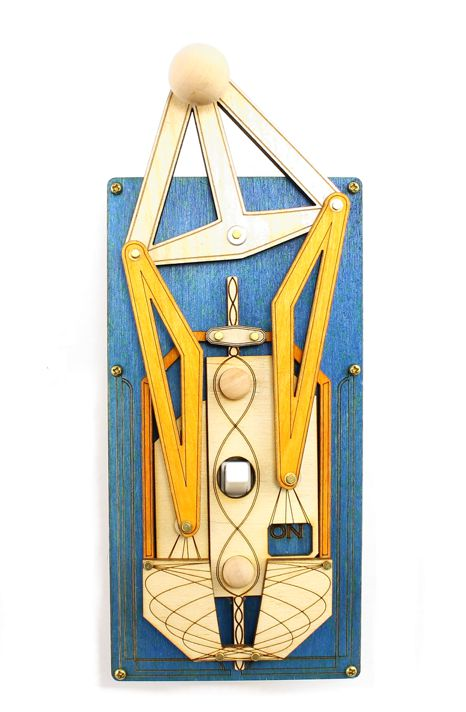Art Deco Blue/Yellow Rig Switch Plate Cover