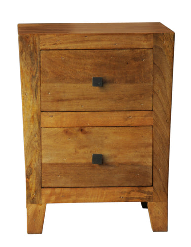 2 Drawer Tapered Night Stand