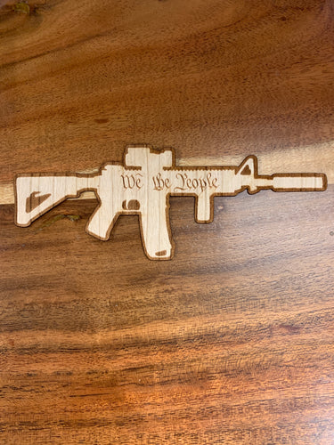 Large AR-15 3D Laser Cut Wood Sticker