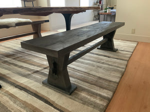 Grey Finish Wood Bench