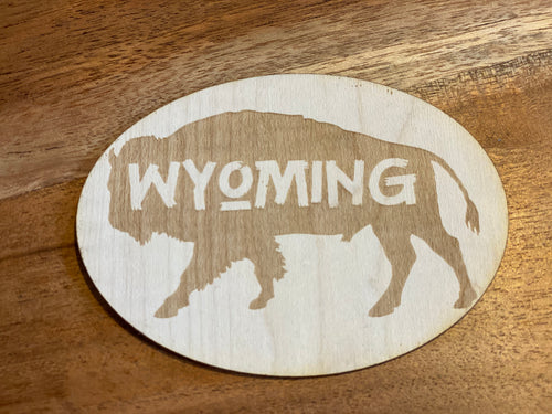 Wyoming Bison Sticker
