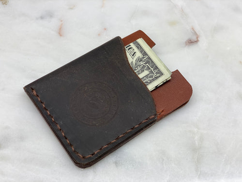 Leather Compact Wallet (2 TONE)