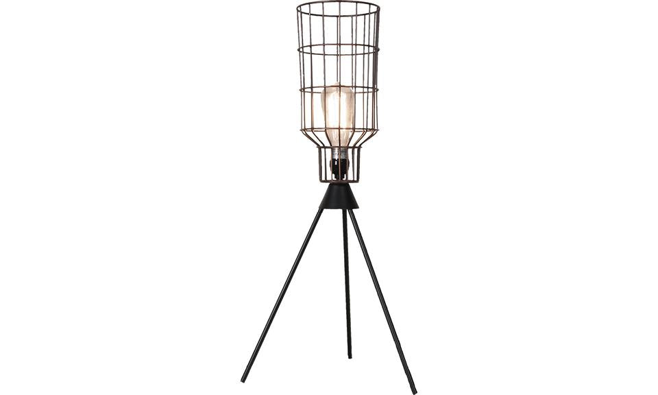 Cylinder Metal Basket Table Lamp
