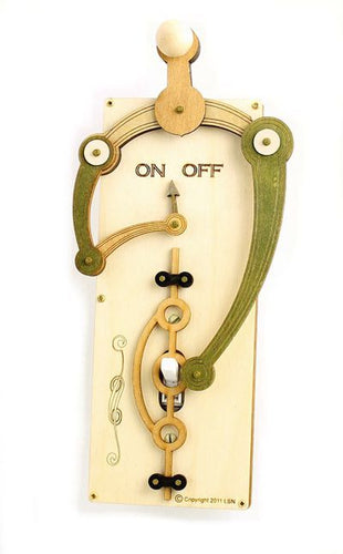 Natural/Green Single Toggle Switch Plate Cover