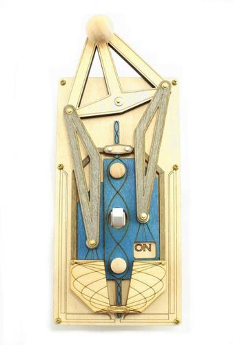 Art Deco Natural/Blue Rig Switch Plate Cover