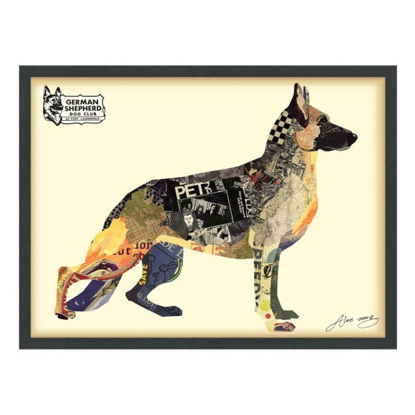 German Shepherd Hand Made Art Collage