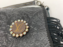 Load image into Gallery viewer, Leather Handbag with LV leather detail.