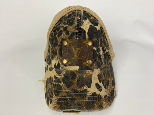 Upcycled  LV High Pony CC Cap