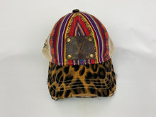 Load image into Gallery viewer, Upcycled LV Serape and Leopard Cap