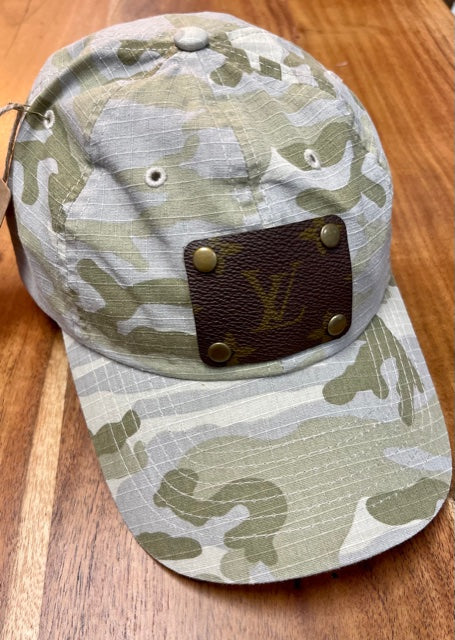 Upcycled LV Light Green Camo Cap