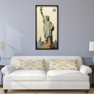 Lady Liberty Hand Made Art Collage
