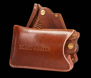 Genuine Leather Pouch for Switchblade Comb