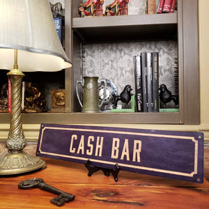 Cash Bar Metal Sign