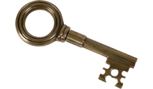 Load image into Gallery viewer, Brass Key Corkscrew