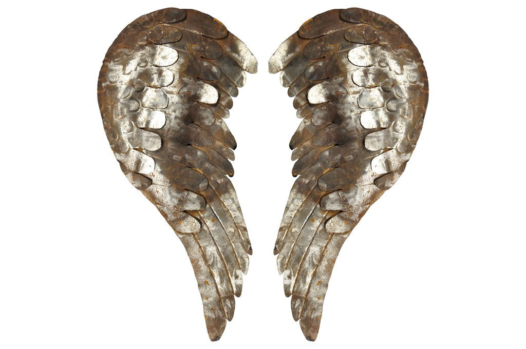 Rusted Large Wings 3D Wall Art