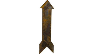 Large Rusted Metal Straight Arrow 3D Wall Art