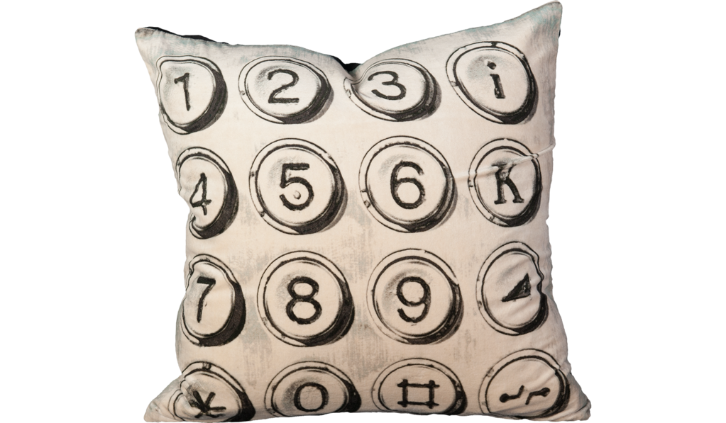 Typewriter Decorative Pillow