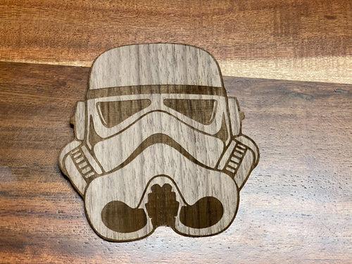 3D Laser Cut Wood 'Stormtrooper' Sticker