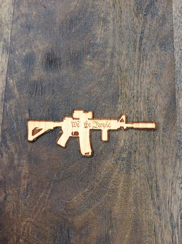 Medium AR-15 Sticker 3D Laser Cut Wood Sticker