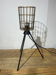Table Cylinder Basket Lamp