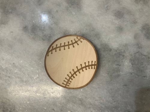 Baseball 3D Laser Cut Wood Sticker